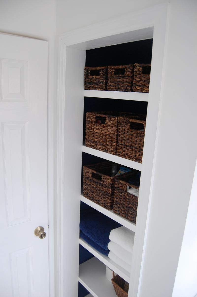 How To Build Linen Closet With Floating Shelves