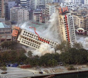 Building falling